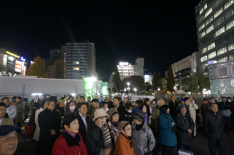 活動報告衆議院選挙が公示されました明日を信じられる日本へ